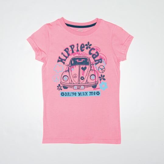 Camiseta Casual UP STAMPS Rosa Niña (10-16)