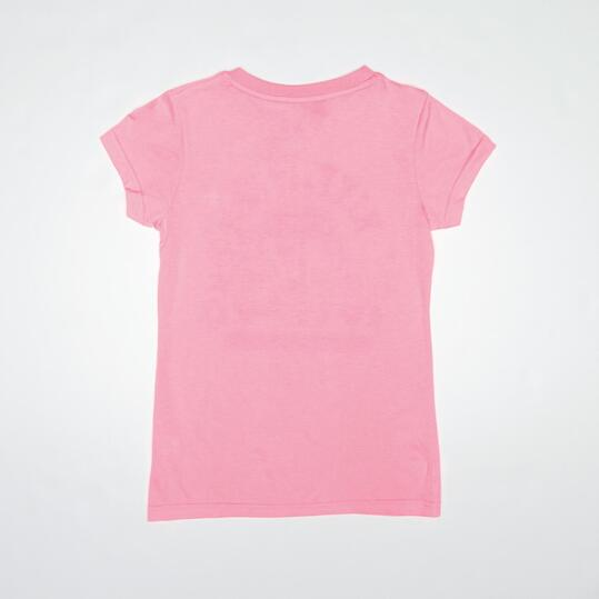 Camiseta Casual UP STAMPS Rosa Niña (10-16)