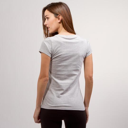 Camiseta Fotógrafa UP BASIC Gris Mujer