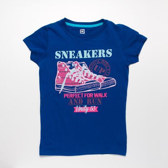 Camiseta Azul Marino UP STAMPS Niña (10-16)
