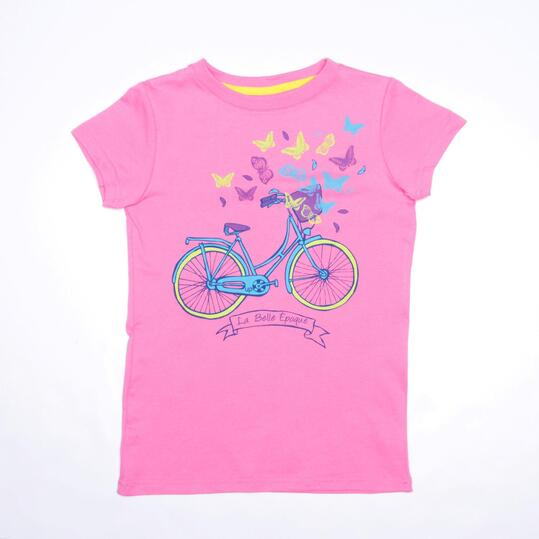 Camiseta Rosa Chicle UP STAMPS Niña (10-16)