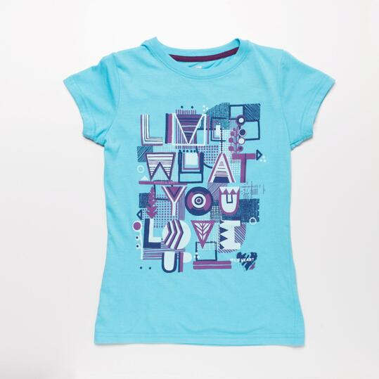 Camiseta Azul Celeste UP STAMPS Niña (10-16)