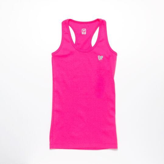 Camiseta Espalda Nadadora UP Fucsia Niña (10-16)
