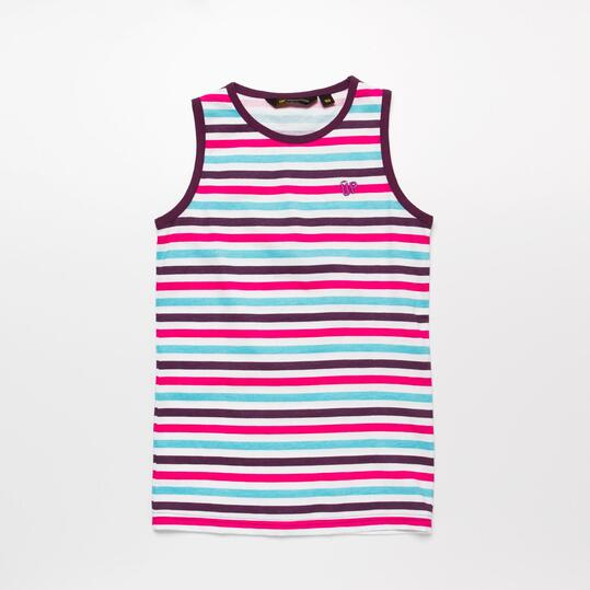 Camiseta Tirantes UP BASIC Rayas Morado Niña (10-16)