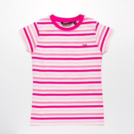 Camiseta Rayas UP Fucsia Niña (10-16)