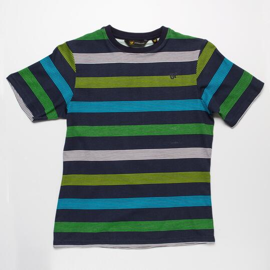 Camiseta  Rayas UP BASIC Marino Niño (10-16)