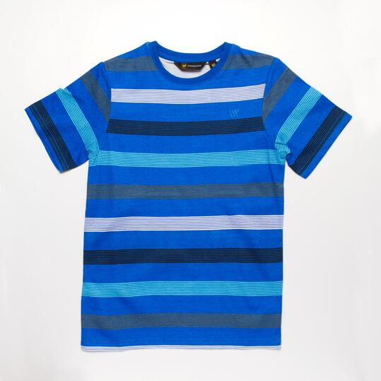 Camiseta  Rayas UP BASIC Azul Niño (10-16)