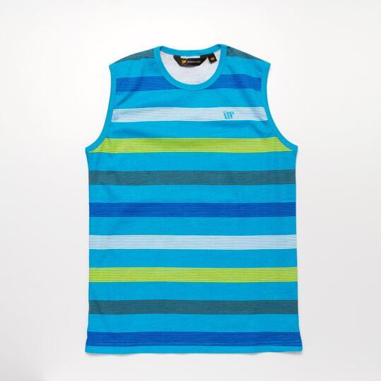 Camiseta Rayas Sin Manga UP Azul Niño (10-16)