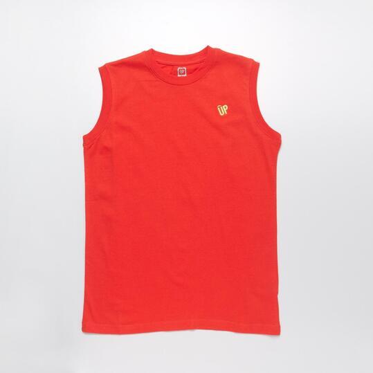 Camiseta Sin Manga UP BASIC Rojo Niño (10-16)