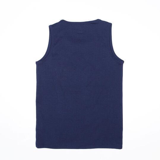 Camiseta Tirante Ancho UP BASIC Marino Niño (10-16)