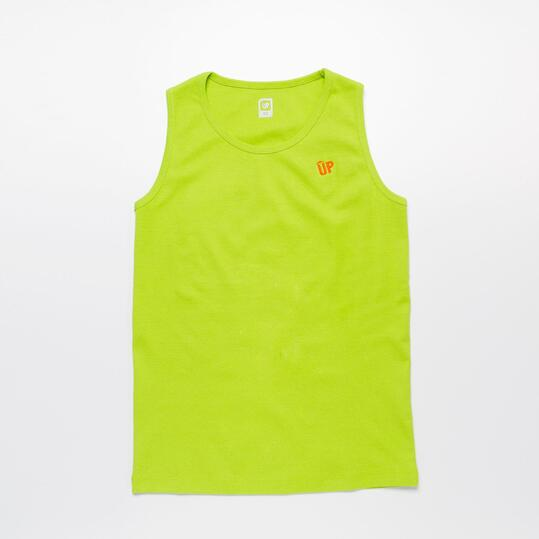 Camiseta Tirante Ancho UP BASIC Pistacho Niño (10-16)