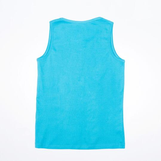 Camiseta Tirante Ancho UP BASIC Turquesa Niño (10-16)