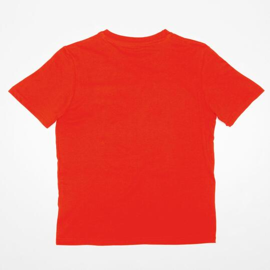 Camiseta Manga Corta Print UP STAMPS Rojo Niño (10-16)