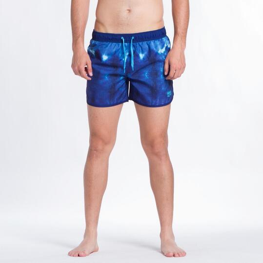 Bañador Corto SILVER Azul Estampado