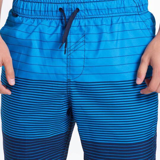 Bañador Bermuda SILVER Rayado Azul Hombre