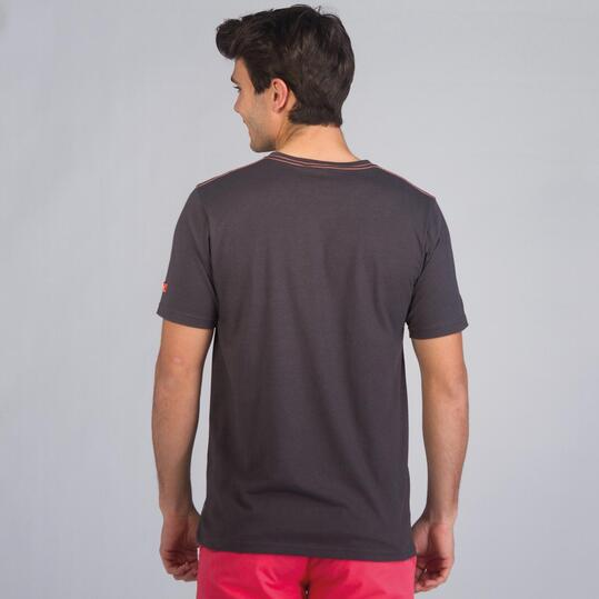Camiseta Manga Corta SILVER STAMPS Gris Hombre