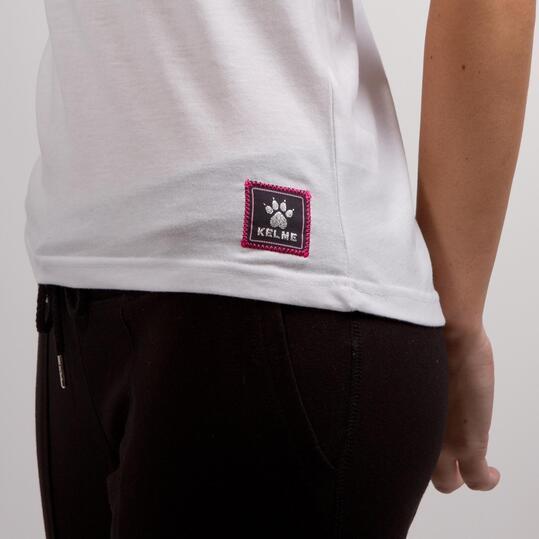 KELME CLASSIC Camiseta Blanca Mujer