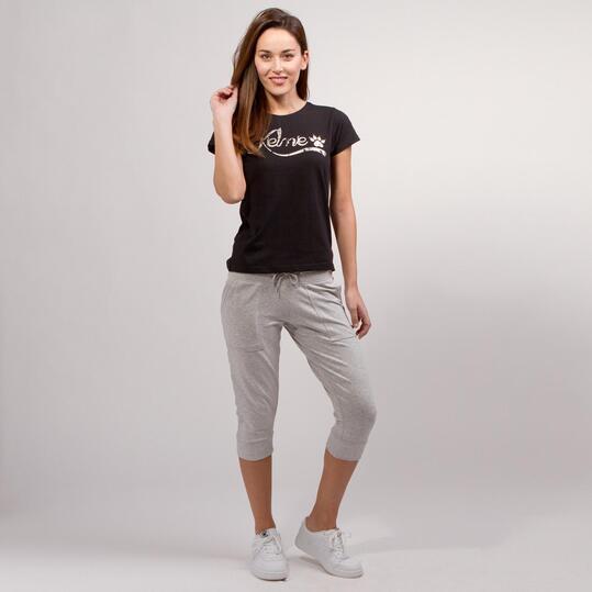 KELME CLASSIC Camiseta Negra Mujer
