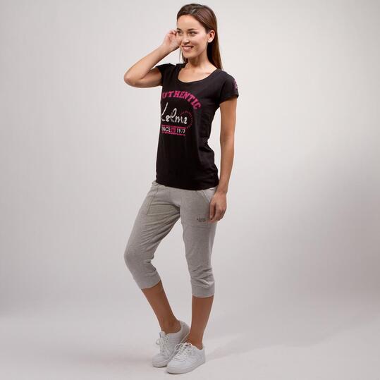KELME CLASSIC Camiseta Negro Rosa Mujer