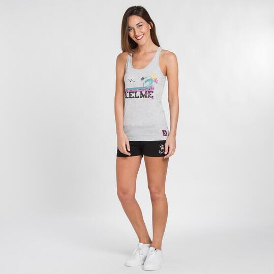 KELME CLASSIC Camiseta Gris Mujer