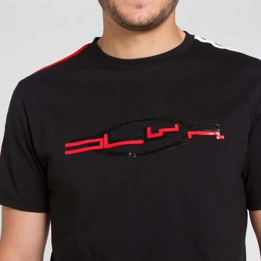 Camiseta Manga Corta SILVER BASICS Negro Hombre