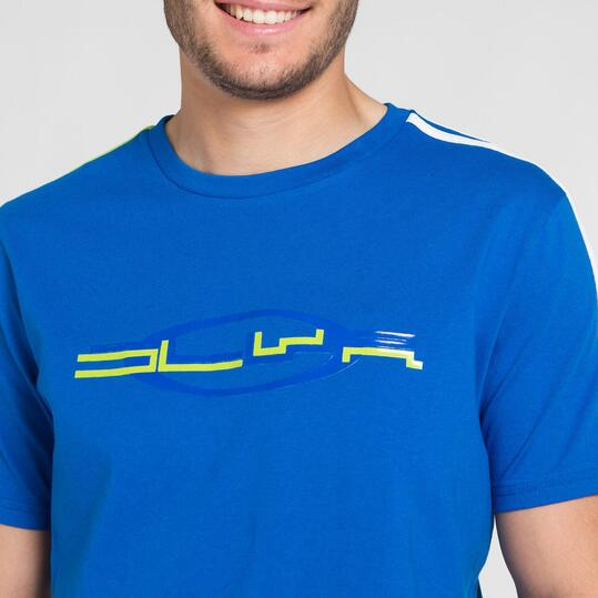 Camiseta Manga Corta SILVER BASICS Azul Hombre