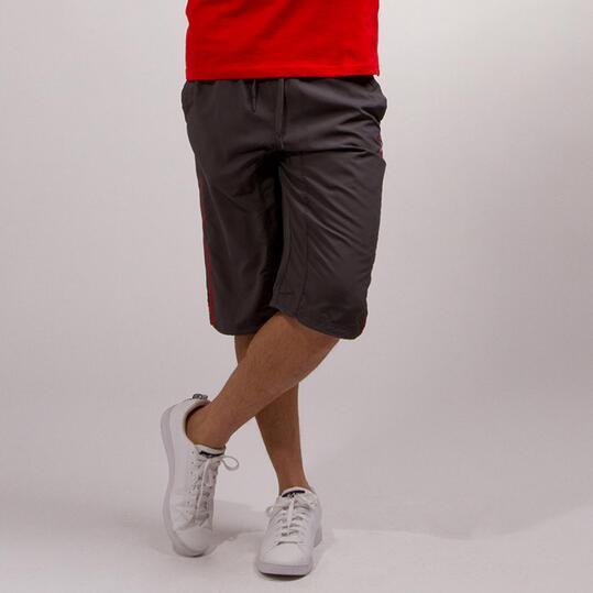 Pantalón Pirata SILVER BASIC Gris Rojo Hombre
