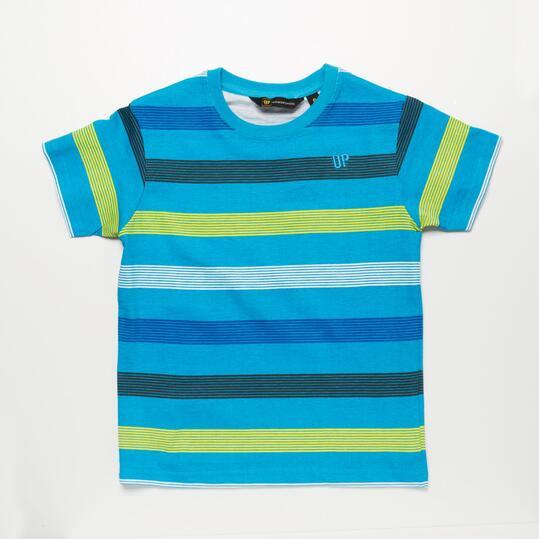 Camiseta Rayas UP BASIC Azul Niño (2-8)