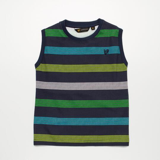 Camiseta Sin Mangas UP BASIC Rayas Marino Niño (2-8)