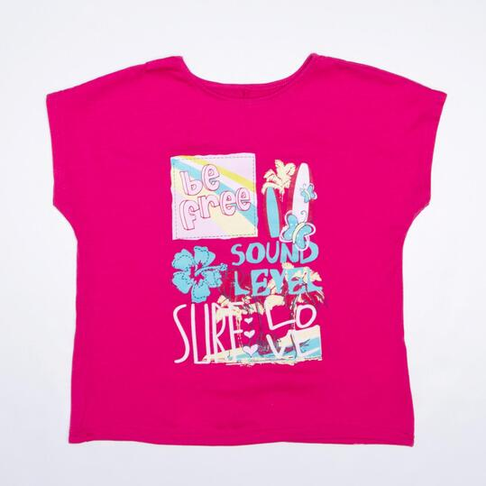 Camiseta Manga Corta SILVER Fucsia Niña (2-8)