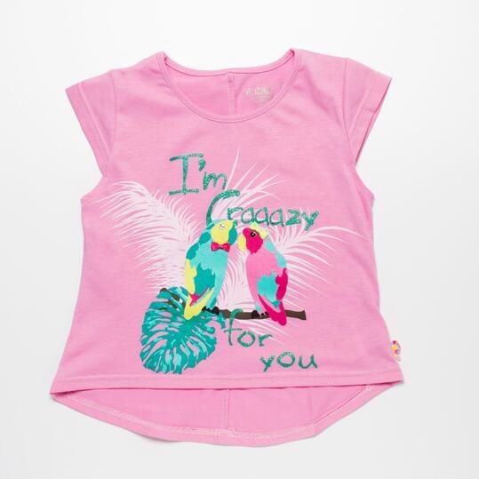 Camiseta Rosa SILVER PARADISE Niña (2-8)