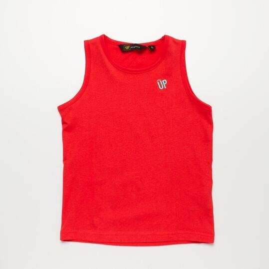 Camiseta Tirante Ancho UP BASIC Coral Niña (2-8)