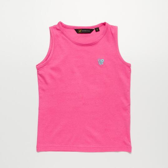 Camiseta Tirante Ancho UP BASIC Rosa Niña (2-8)