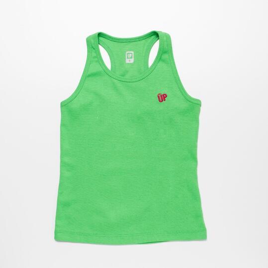 Camiseta Tirantes UP BASIC Verde Niña (2-8)