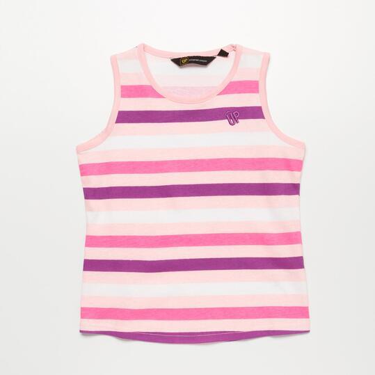 Camiseta Rayas UP BASIC Rosa Niña (2-8)