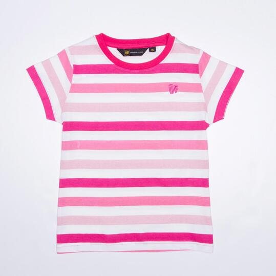 Camiseta Rayas UP Fucsia Niña (2-8)