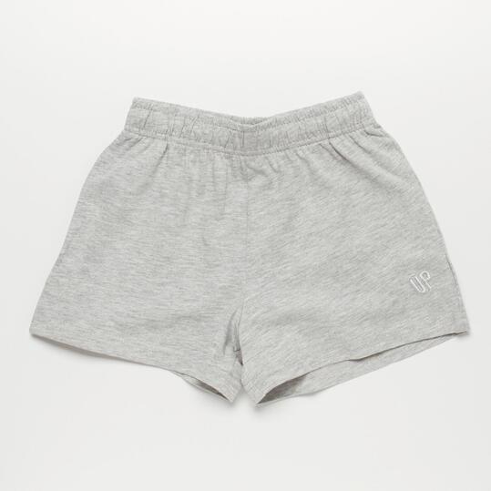 Pantalón Corto UP BASIC Gris Niña (2-8)