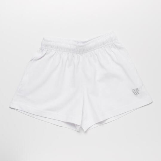 Pantalón Corto UP BASIC Blanco Niña (2-8)