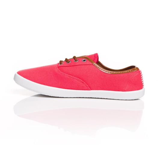 Zapatillas Lona UP VIC Coral Mujer