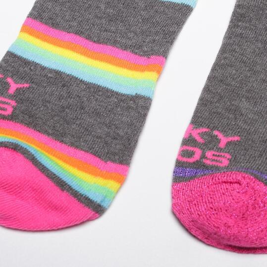 Calcetín Tobillero Mujer FUNKY SOCKS Multicolor Gris