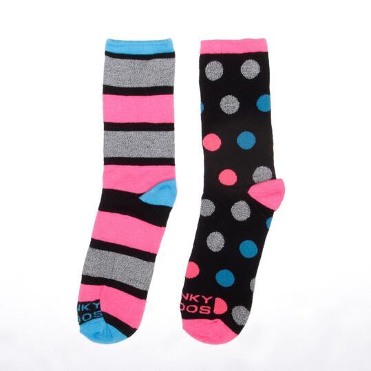 Calcetines Cortos Niña FUNKY SOCKS Negro Multicolor