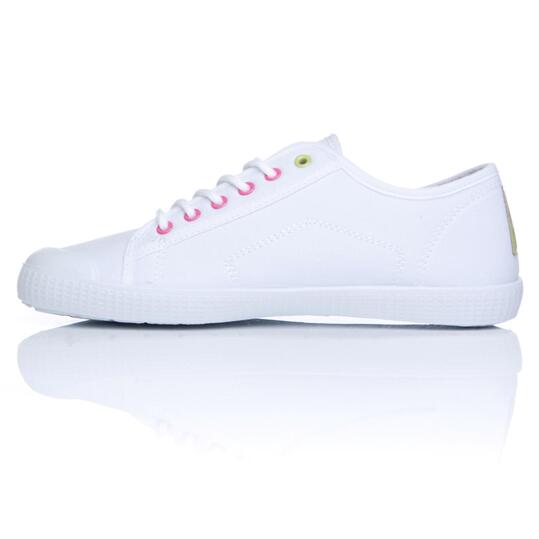 Zapatillas Lona UP TOECUP Blanco Mujer