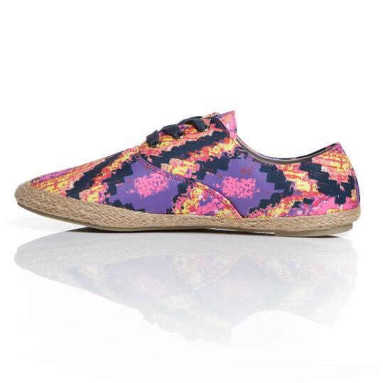 Zapatillas Lona UP COOL Fucsia Mujer