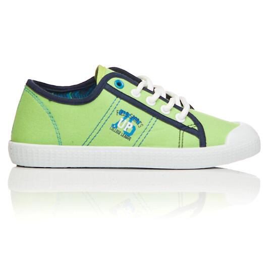 Zapatillas Lona UP TOECUP Verde Niño (28-35)