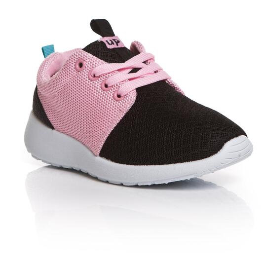Up Sneakers Negro Fucsia Niña (28-35)