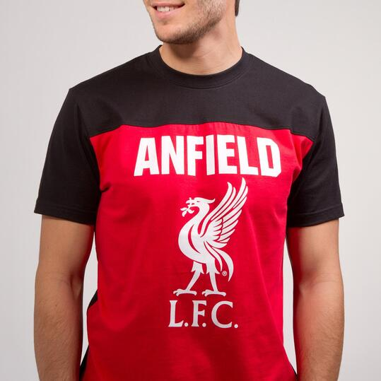 Camiseta Liverpool SOURCE LAB Rojo Negro Hombre