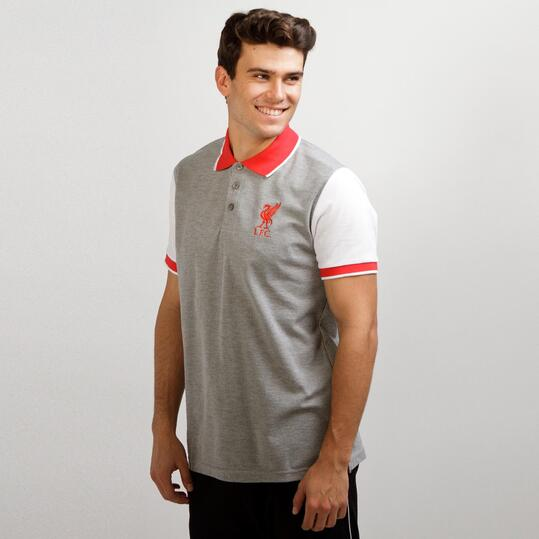 Polo Liverpool SOURCE LAB Gris Hombre
