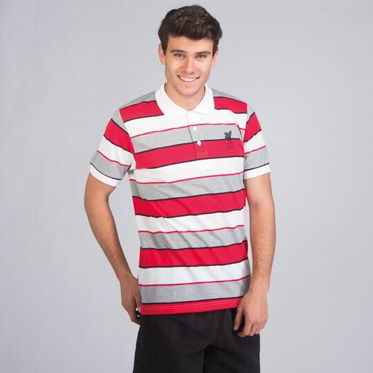 Polo Liverpool SOURCE LAB Blanco Hombre