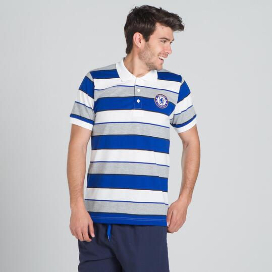Polo Chelsea SOURCE LAB Blanco Hombre