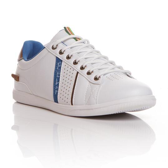 Zapatillas SILVER Blanco Azul Hombre